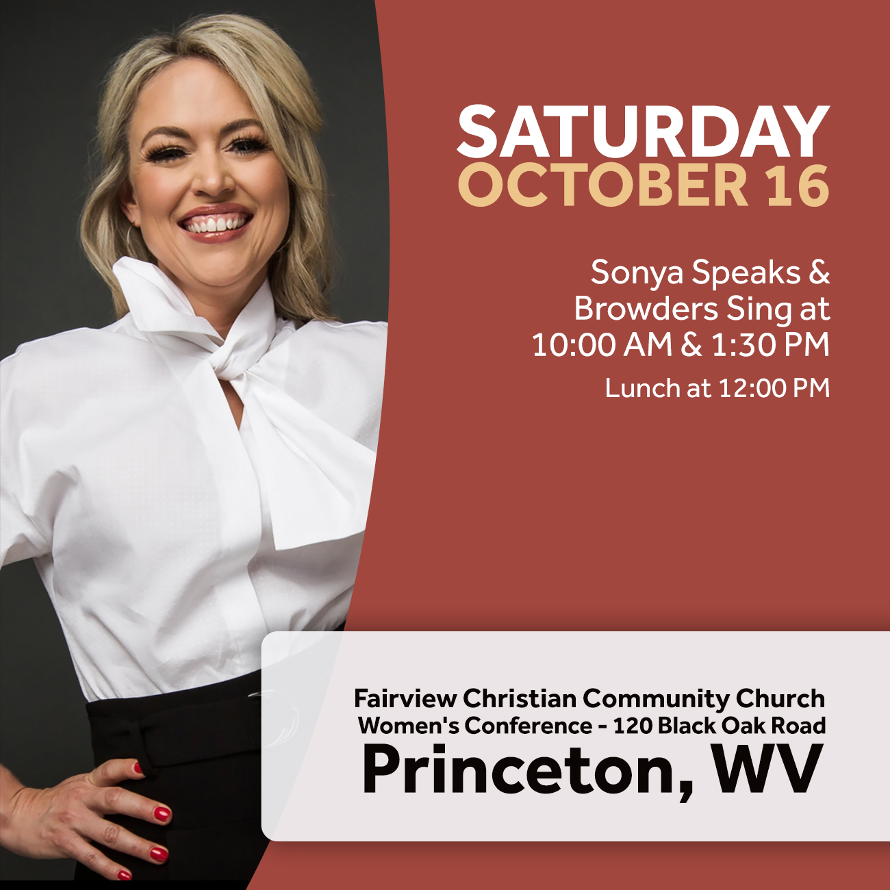 Sonya in Princeton this October!